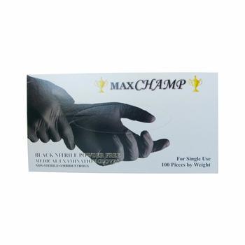 Manusi nitril nepudrate MaxChamp Black (negre)