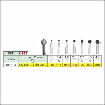 Freza chirurgicala globulara C141 HP, 2.3mm