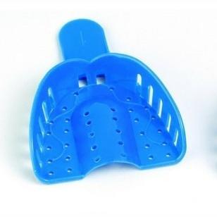 Linguri de amprenta plastic albastre set