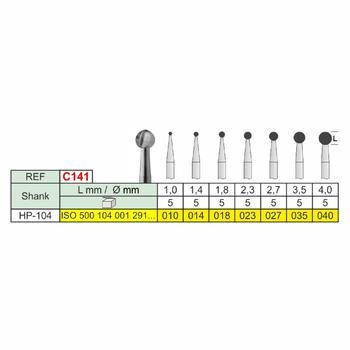 Freza chirurgicala globulara C141 HP, 4.0mm